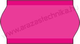 22x12mm árazócímke - FLUO pink - eredeti OLASZ (1400db/tek)