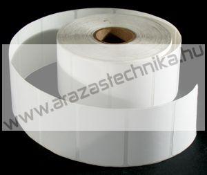 40×35 mm PET Matt WHITE ( 2.000db/tek) öntapadós címke