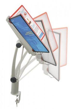 Lapozható 10 db ×A4 keret+PVC - asztalra rögzíthető