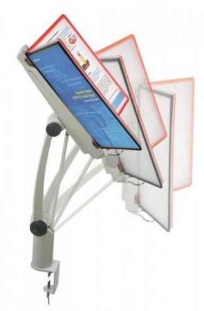 Zsanéros 10 db × A4 keret+PVC - asztalra rögzíthető