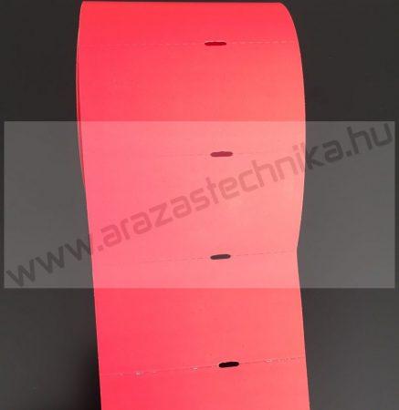 Polccímke 80x40 mm THERMO - piros (500db/tek)