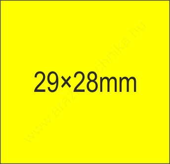 29x28mm FLUO citrom árazócímke (700db/tek)