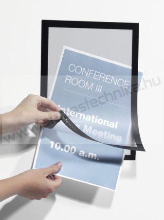 Duraframe®  A4 - mágneses plakátkeret öntapadó hátlap (4882-01) - fekete