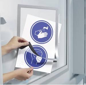 Duraframe®  A4 - ezüst infokeret (4882-23) - öntapadó hátlap