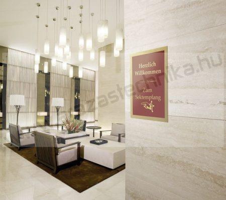 Duraframe®  A4 - mágneses plakátkeret öntapadó hátlap (4872-30) - arany RAL1036