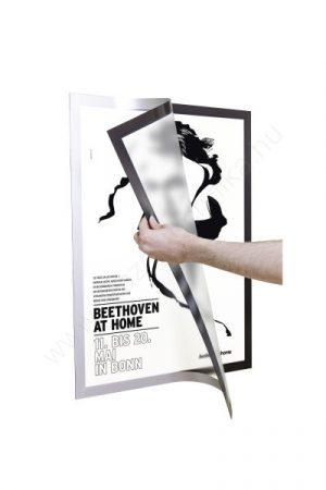 Duraframe® POSTER A2 - ezüst infokeret (4995-23) öntapadó hátlap