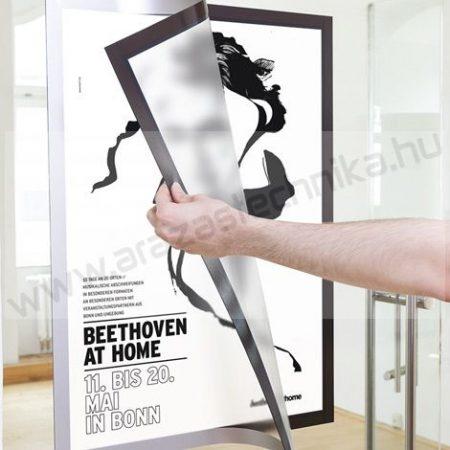 Duraframe® POSTER A1 - ezüst infokeret (4997-23) öntapadó hátlap
