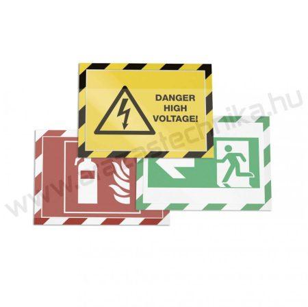 Duraframe® Security A4 - sárga-fehér (4944-130) - figyelemfelhívó keret