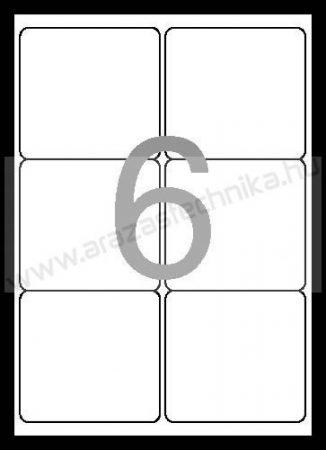 99,1x93,1 mm 6db/ív Rayfilm etikett címke [0821A]