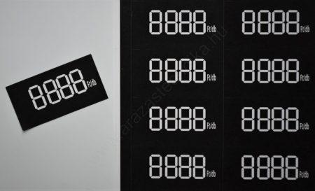 Digitális számok 60×40mm papír címkén