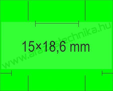 Monarch 1115 géphez 15x18,6mm FLUO zöld árazószalag