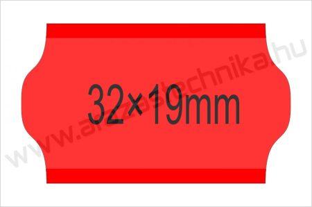 32×19mm FLUO piros OLASZ árazószalag