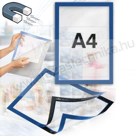 Duraframe®  A4 - mágneses öntapadó infokeret (4882-07) - kék RAL5003