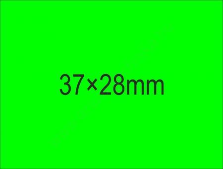 37×28mm árazócímke - fluo zöld  (500db/tek) (24tek/#)