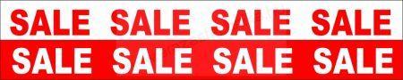 TÁBLA 100×10 cm SALE - piros  (2 oldalas)  kirakat reklámtábla