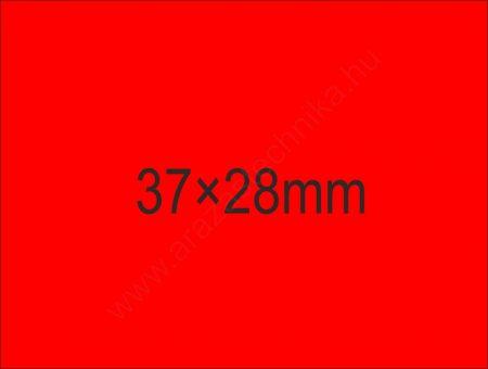 37×28mm árazócímke - fluo piros (500db/tek) (24tek/#)