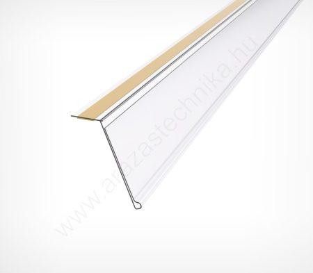 DÖNTÖTT ársín 4 cm × 1,33m - felülről ragasztható (átlátszó hátlap)