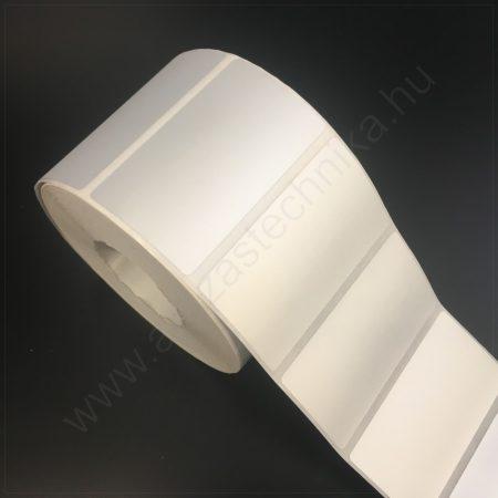 70x40mm PET MATT SILVER (1.000db/40) -  ezüst ipari címke