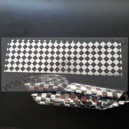 PEPITA nyomot hagyó 40x15mm biztonsági címke - fényes ezüst
