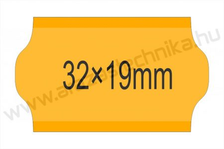 32x19mm fluo narancs METO árazószalag