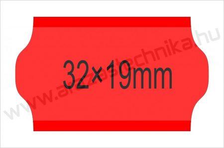 32x19mm fluo piros METO árazószalag