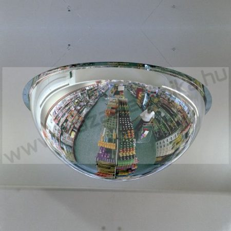 Félgömb 360° bolti megfigyelő tükör 80 cm átmérő