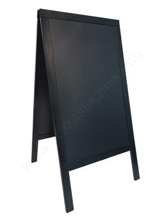 Krétás megállító tábla - 70x125 cm - Exkluzív (kültéri) - fekete keret (SBS-BL-120)