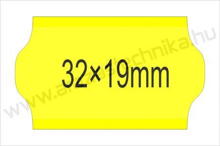 32×19mm FLUO citrom OLASZ árazószalag