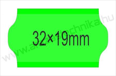 32×19mm FLUO zöld OLASZ árazószalag