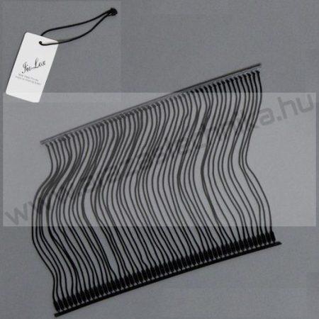 13 cm fekete textil körszál