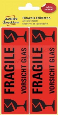 FRAGILE címke / Avery-Zweckform 3050