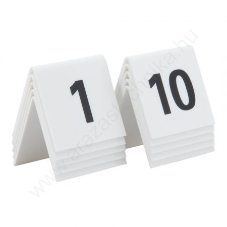 Asztal számok tábla szett (1-10) Securit® TN-1-10-WT