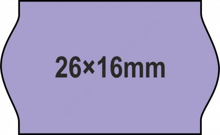26x16mm LILA - ORIGINAL árazócímke (1.000db/tek)