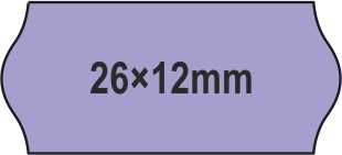 26x12mm árazócímke - lila - eredeti OLASZ (1400db/tek)