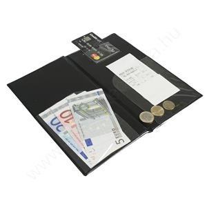 Számla bemutató - bankkártya és aprópénztartóval - csáró (MC-BRBP-BL) fekete Basic