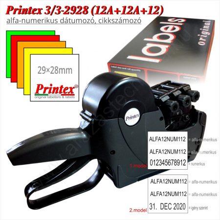 PRINTEX 3/3 T2928 (12A+12A+12) ALFA-NUMERIKUS dátumozó