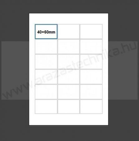 Inzert 40x60mm - (18db/ív) nyomtatható polccímke (1452)