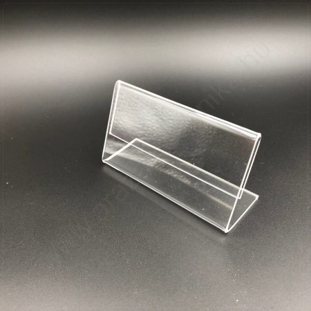 Árcímke tartó plexi  90x54 mm