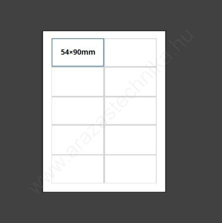 Inzert 54×90mm - nyomtatható etikett 10db/ív (1455-02)