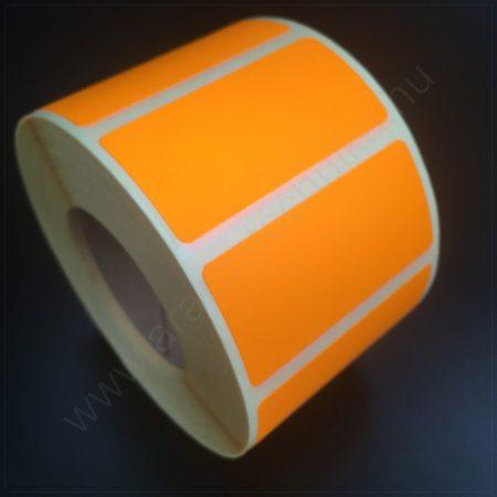 50x25mm TT papír címke (1.000db/tek) -  fluo NARANCS