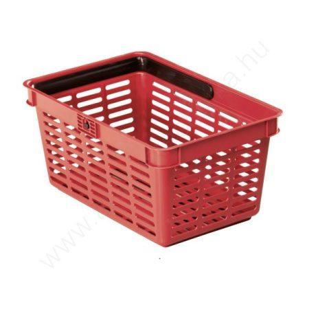 19 literes kézi bevásárló kosár - PIROS - egyfüles