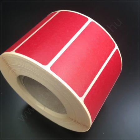 90x90mm  TT papír címke (1.000 db/tek) PIROS