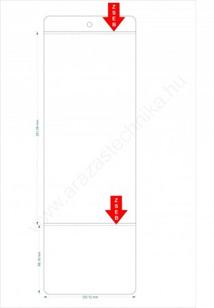 PVC tasak 120mm széles ×90+270 hosszú (2 zsebes) + függeszthető lyuk