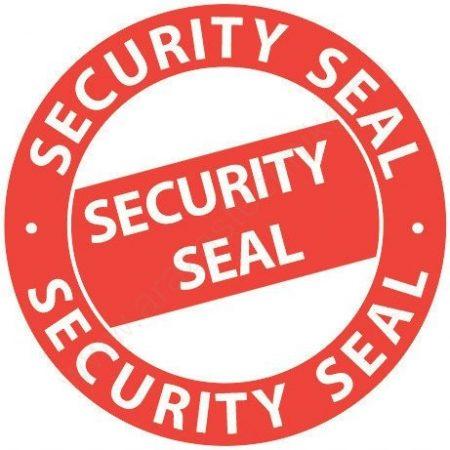 """38 mm biztonsági körcímke """"Security Seal""""  (Avery 7312)"""