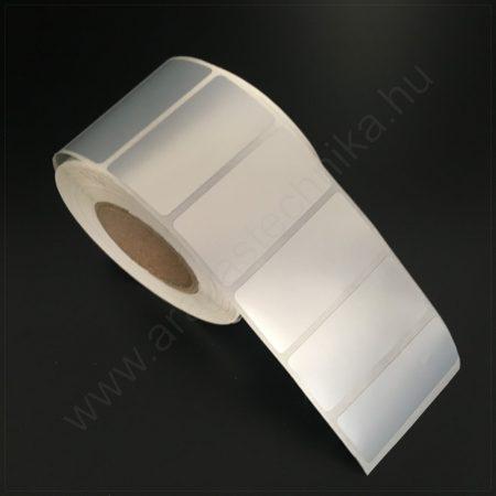 40x25mm PET Matt Silver (2.000db/40) - ezüst címke