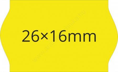 26x16mm citrom ORIGINAL árazócímke (1.000db/tek)
