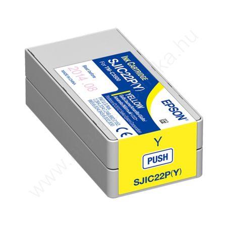 Epson SJIC22P(Y) sárga tintapatron