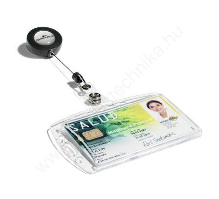Biztonsági kártyatartó AKRIL tok - zárt (8012-19) kihúzható tartóval