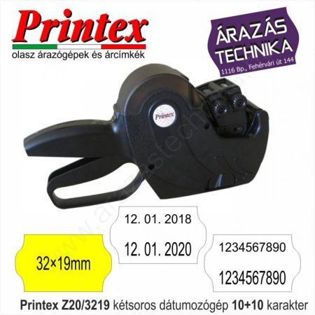 PRINTEX  Z20/3219 dátumozó gép 10+10 karakter