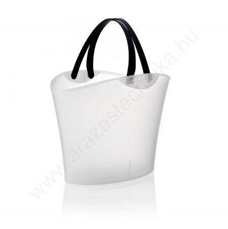 Bevásárló kosár SHOPHIE 15L - átlátszó fehér